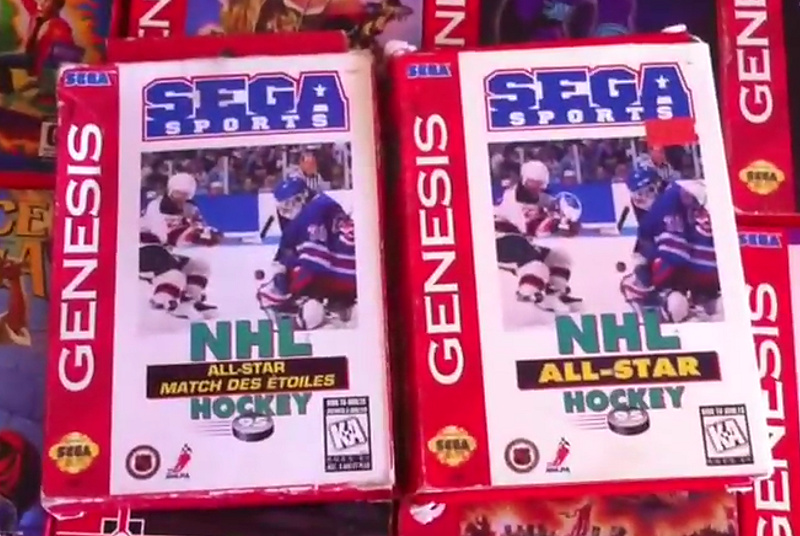 SEGA Genesis NHL All-Star Hockey 95 Canadian Cardboard Box